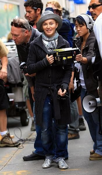 Madonna directs on the set of ''W.E.'' in New York