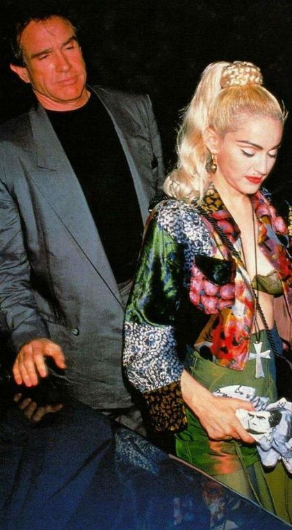 Photo: Madonna and Warren Beatty (Blond Ambition Tour After-party)