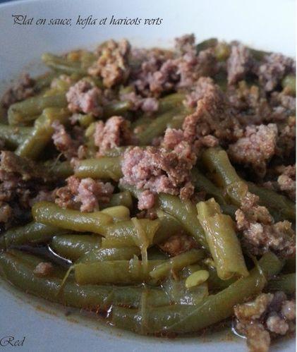 Plat en sauce kefta et haricots verts d lices de red for Plat convivial rapide