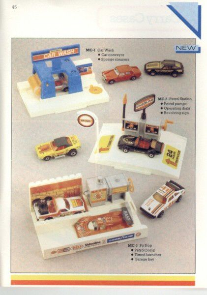 catalogue matchbox 1986 p45 car wash petrol station