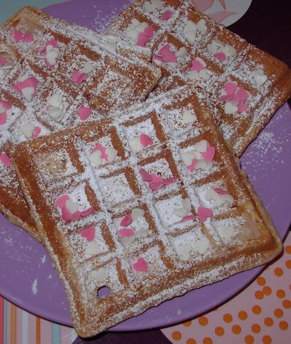 Gaufres aux biscuits roses5