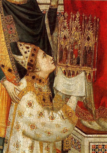 Giotto The Stefaneschi cardinal -Triptych (detail) Pinaco