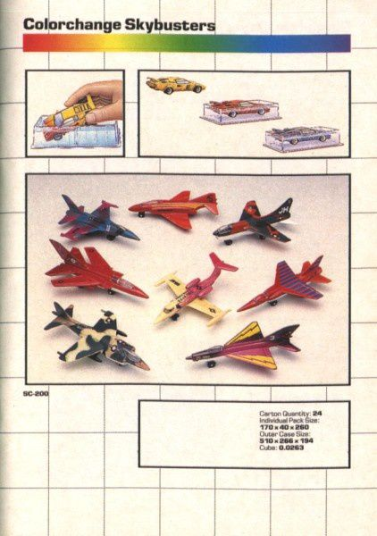 catalogue matchbox annee 1989 t15 skybusters colorchange