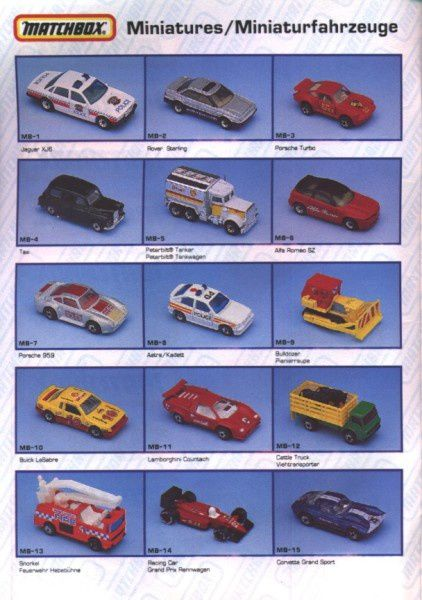 catalogue matchbox annee 1992 s02