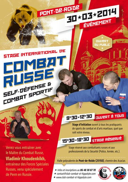 affiche a3 stage combat russe 30 mars 2013