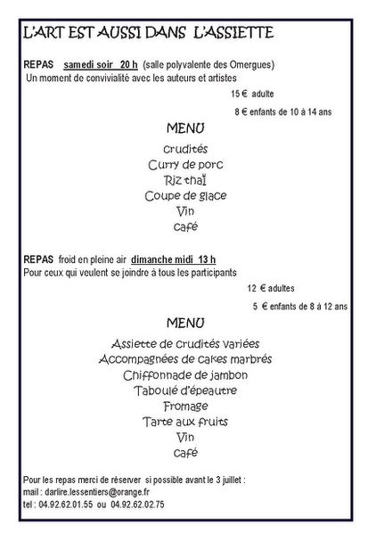 Programme 2012 Page 4-Repas