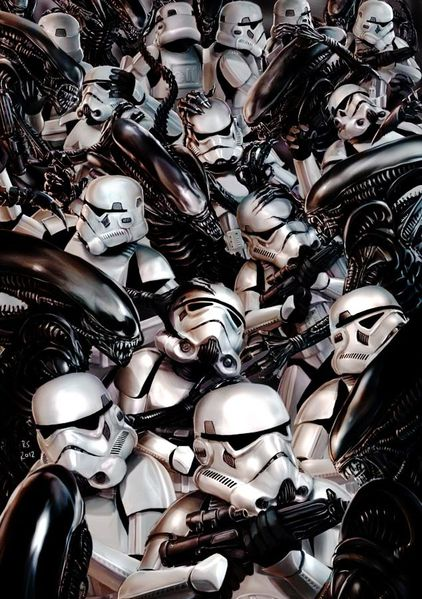 stormtroopers vs aliens by rhymesyndicate-d5p5qw5