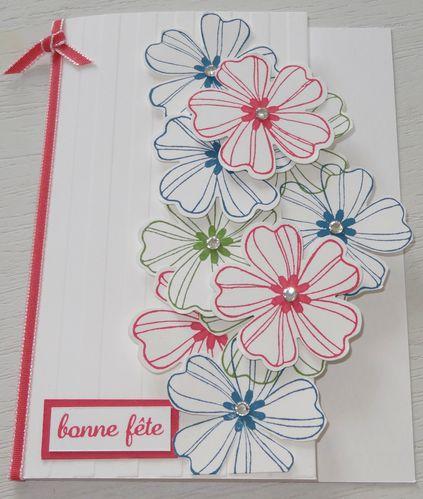 carte cascade de fleurs