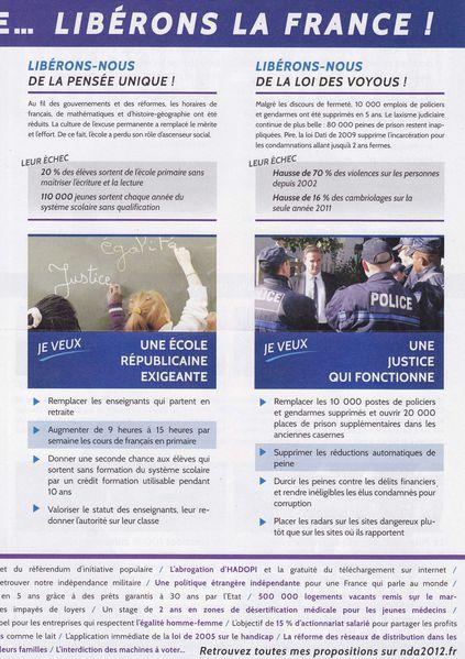 2012 Presidentielle Nicolas Dupont-Aignan profession foi2