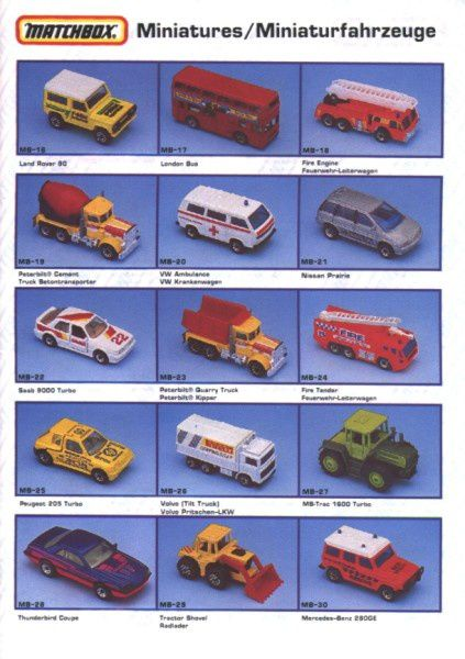 catalogue matchbox annee 1992 s03