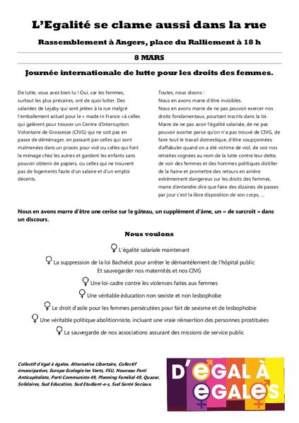 tract 8 mars egal
