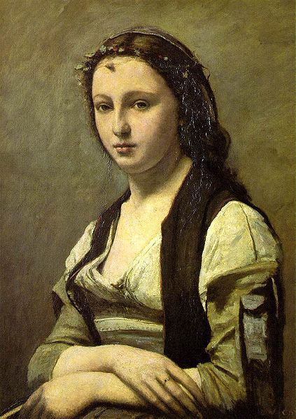 423px-Camille Corot - Woman with a Pearl