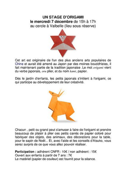2011-12 Un stage d'Origami