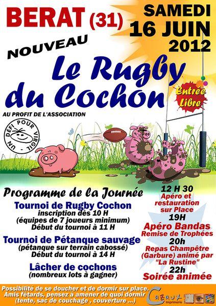 Le rugby du cochon (Bérat 31)