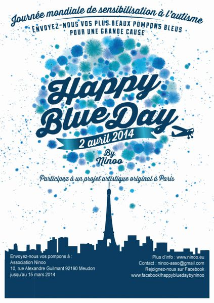 affiche happy blue day
