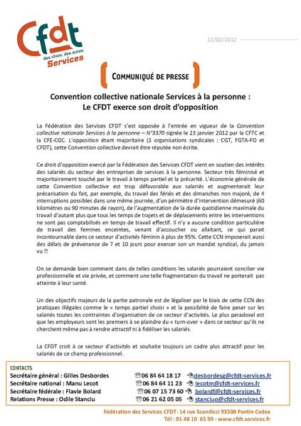 convention collective nationale etendue des services a la