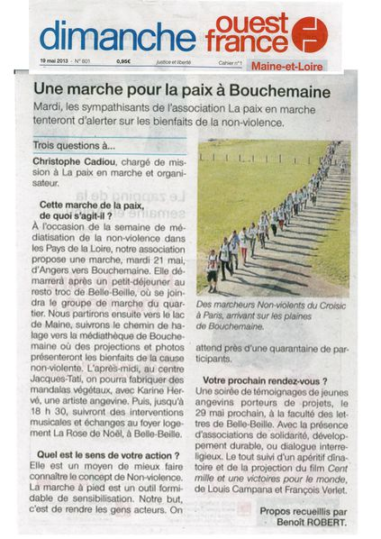 Article Ouest-France 19 mai 2013