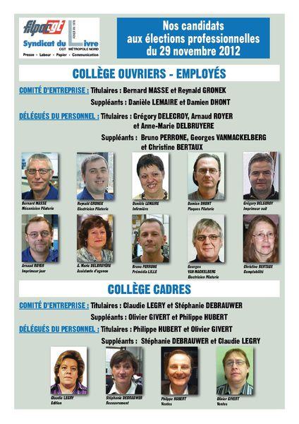 Trombi Elections 2012 Métropole Nord CGT