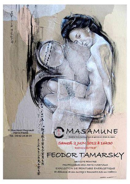 affiche F.TAMARSKYexpo Paris MASAMUNEpetit