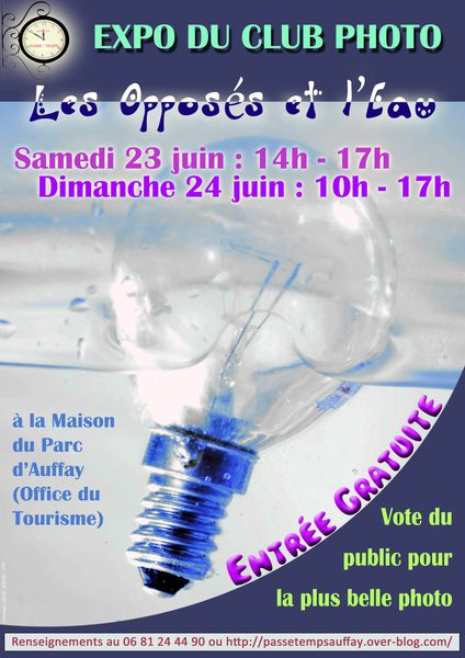 Affiche expo photo juin 2012.