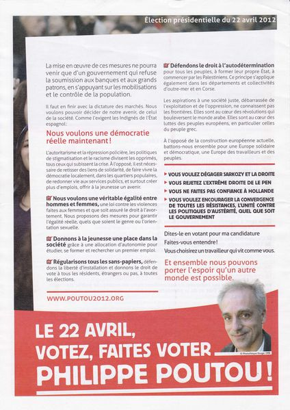 2012 Presidentielle Philippe Poutou profession foi3