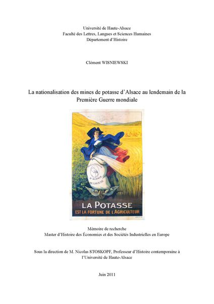 MEMOIRE la nationalisation des mines de potasse Page 001