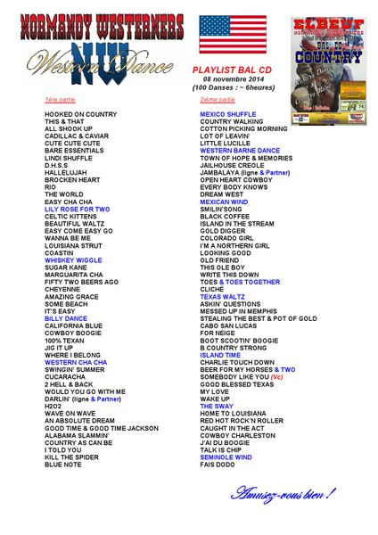PLAYLIST BAL CD 08 nov 2014