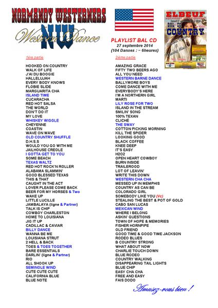 Playlist BAL CD 27 sept 2014