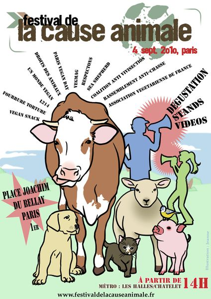 affiche festival cause animale paris 2010