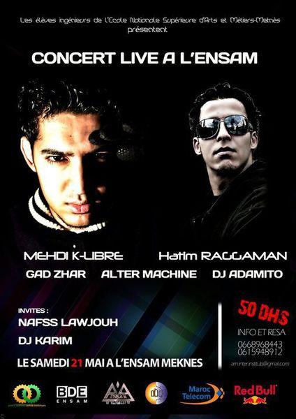 Concert Hip Hop @ Meknès le 21 mai (Mehdi K-Libre, Hatim Raggaman...)