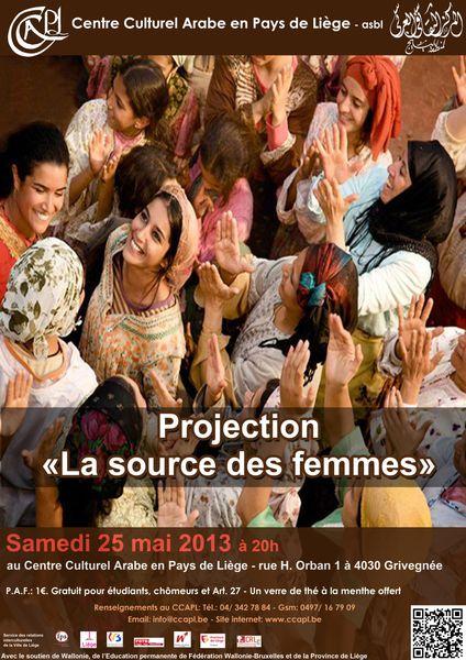 « La source des femmes », le samedi 25 mai à 20h au Centre Culturel Arabe en Pays de Liège