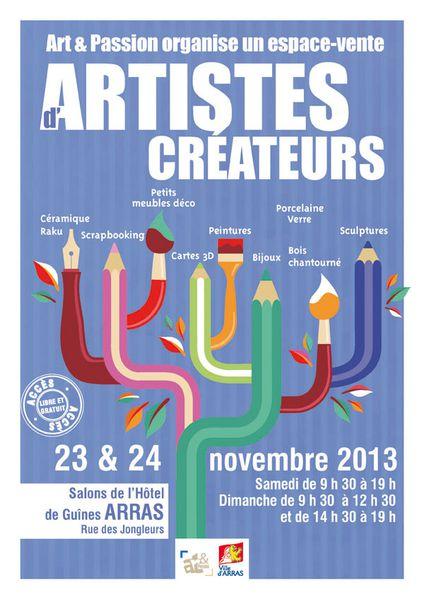 affiche Art - Passion d-artistes createurs diffusion
