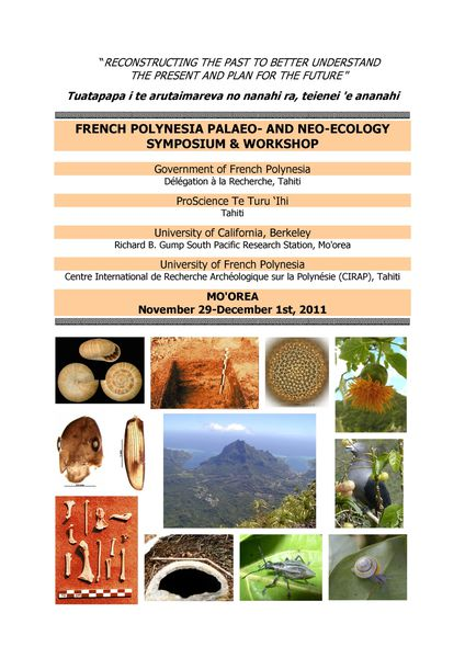 Paleo-Neo Symposium page titre 2011