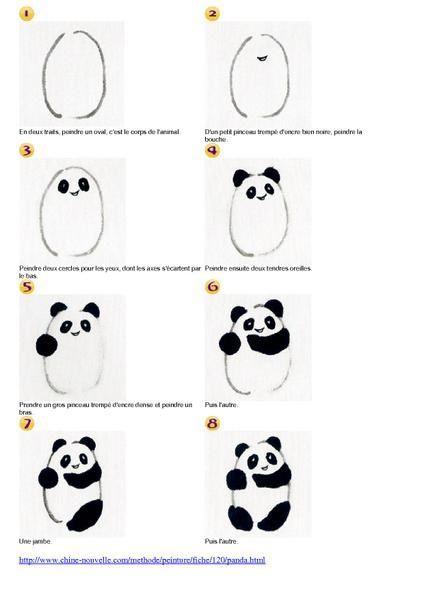 Comment dessiner un panda - Comment dessiner un ours ...