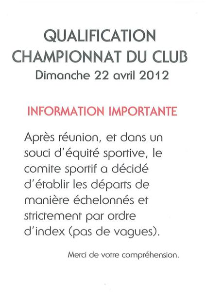 Note d ' INFORMATION