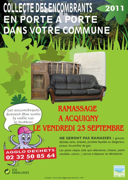 Affiche encombrants