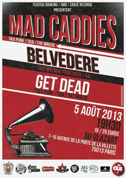 Affiche Mad Caddies +logos