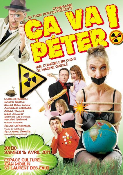 20110416 Affiche théâtre ca va péter