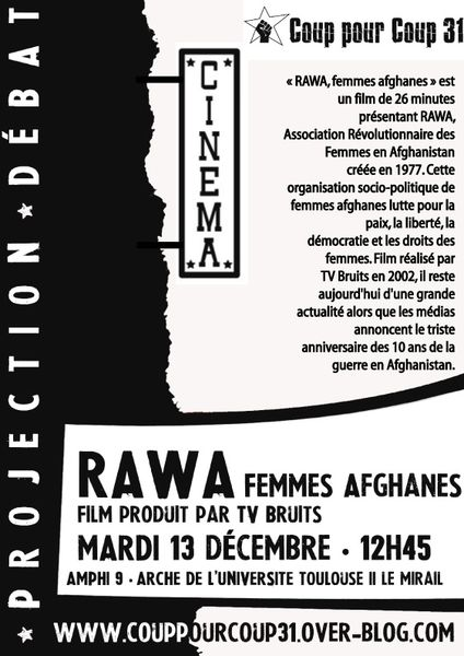 "Toulouse : projection ""RAWA, femmes afghanes""  ProjectRAWA-copie"