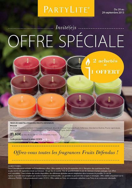 Offre forbidden fruits september 2013 20-29sept