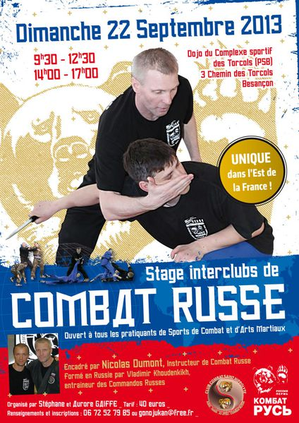Affiche stage Besac 22 septembre 2013 600