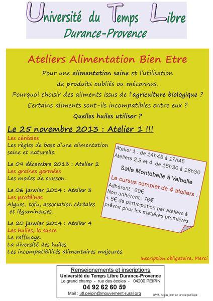 2013-11-25 Affiche Alimentation Bien être