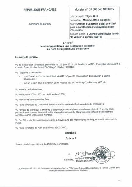 18 permis de construire la continuite d 39 un acharnement for Permis de construire declaration prealable