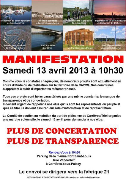Manifestation 13 avril 2013