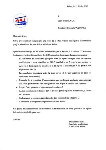INDEMNITAIRES LETTRE NATIONAL