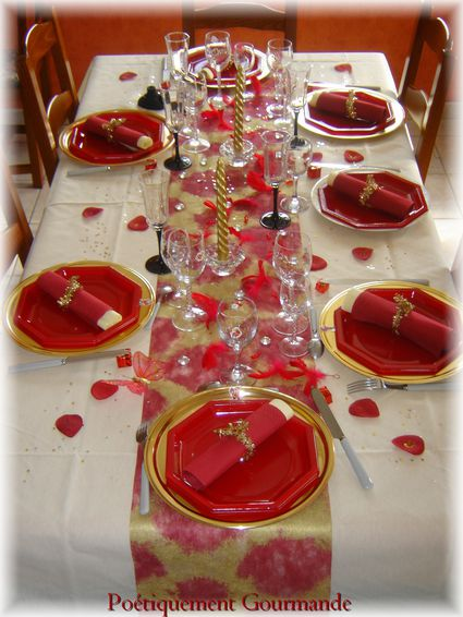 Mes tables de f tes no l 2009 po tiquement gourmande - Table de fete decoration noel ...