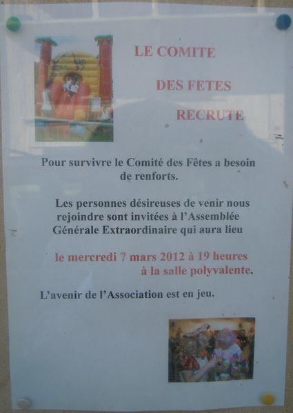 BEURE - COMITE FETE recrute