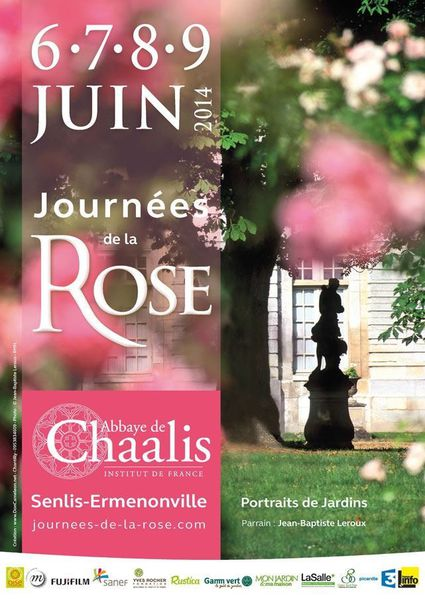 journees de la rose chaalis affiche 2014