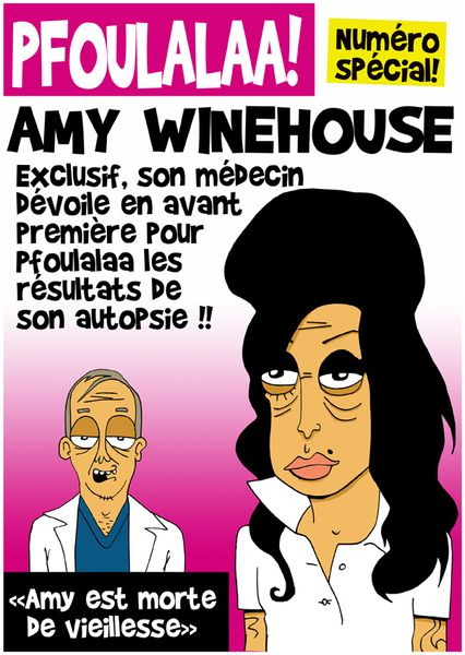 Amy Winehouse morte caricature Pfoulalaa