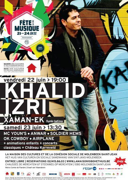 Khalid Izri à l'affiche de la Fête de la musique 2012 à Molenbeek-Saint-Jean